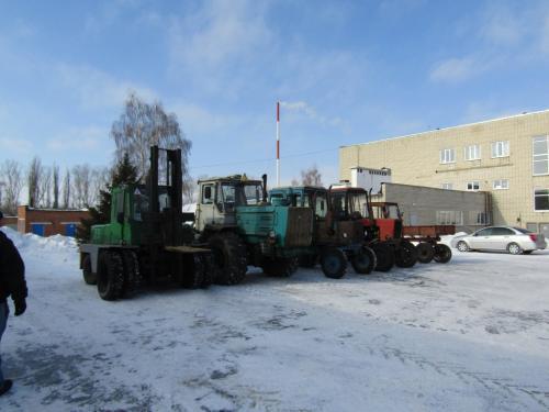 Машинотракторный парк, вождение трактора5